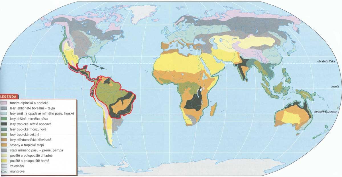 Mapa Biomy Sveta Mapa